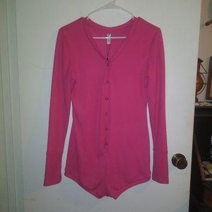 Moxeay pink longsleeve jumpsuit size M
